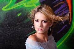 όμορφη γυναίκα headshot Στοκ Φωτογραφίες
