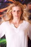 όμορφη γυναίκα headshot Στοκ Εικόνα