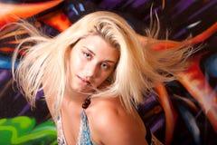 όμορφη γυναίκα headshot Στοκ Εικόνες