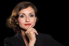 Όμορφη γυναίκα headshot Στοκ Φωτογραφία