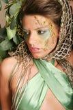 όμορφη γυναίκα makeup Στοκ Φωτογραφίες
