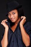 όμορφη γυναίκα smiley καπέλων Στοκ Εικόνα