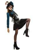 Όμορφη γυναίκα steampunk στα γυαλιά που απομονώνεται Στοκ Φωτογραφίες