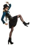 Όμορφη γυναίκα steampunk στα γυαλιά που απομονώνεται Στοκ φωτογραφία με δικαίωμα ελεύθερης χρήσης