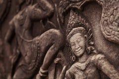 Όμορφη γλυπτική Apsara Στοκ Εικόνα