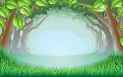 όμορφη δασώδης περιοχή σκηνής απεικόνιση αποθεμάτων