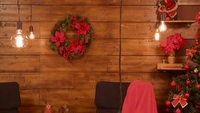 Όμορφη διακόσμηση Χριστουγέννων απόθεμα βίντεο