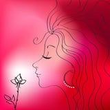 όμορφη διανυσματική γυναί& Στοκ εικόνα με δικαίωμα ελεύθερης χρήσης