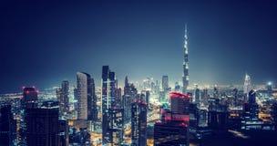 Όμορφη εικονική παράσταση πόλης του Ντουμπάι Στοκ Εικόνα