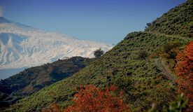Όμορφη εικόνα του Etna ηφαιστείου στοκ φωτογραφία με δικαίωμα ελεύθερης χρήσης