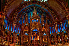 όμορφη εκκλησία Μόντρεαλ Στοκ φωτογραφία με δικαίωμα ελεύθερης χρήσης