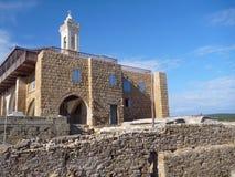 Όμορφη εκκλησία Απόστολος Ανδρέας στη χερσόνησο karpasia στοκ φωτογραφία με δικαίωμα ελεύθερης χρήσης