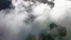 Όμορφη εναέρια άποψη βασιλικού Belum Μαλαισία φιλμ μικρού μήκους