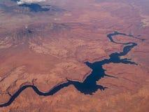 Όμορφη εναέρια άποψη που πυροβολείται από το αεροπλάνο Στοκ Εικόνες