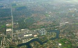 Όμορφη εναέρια άποψη του Μαϊάμι, Φλώριδα, ΗΠΑ Υψηλός επάνω δείτε το Μαϊάμι Στοκ Εικόνες