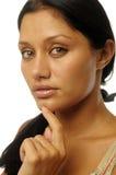 όμορφη εξωτική γυναίκα πορτρέτου Στοκ Φωτογραφία