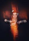 Όμορφη εξωτική γυναίκα χορευτών κοιλιών φυλετική στοκ εικόνες