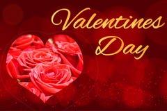Όμορφη εορταστική απεικόνιση με την καρδιά, έννοια - αγάπη, ημέρα του βαλεντίνου Η επιγραφή στην κάρτα στοκ εικόνες με δικαίωμα ελεύθερης χρήσης