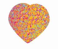 Όμορφη εορταστική παρούσα αγάπη συμβόλων μορφής καρδιών Στοκ Φωτογραφίες