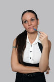 όμορφη επιχειρηματίας 2 εξ&o Στοκ Εικόνα