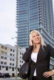 όμορφη επιχειρηματίας 2 υπ&a Στοκ εικόνα με δικαίωμα ελεύθερης χρήσης