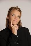 Σκέψη επιχειρησιακών γυναικών Στοκ Εικόνες