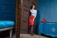 Όμορφη επιχειρησιακών γυναικών μορφή σωμάτων γυναικείου ύφους τέλεια Στοκ Φωτογραφίες