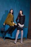 Όμορφη επιχειρησιακών δύο γυναικών μορφή σωμάτων γυναικείου ύφους τέλεια Στοκ Φωτογραφία