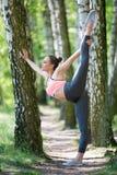Όμορφη λεπτή άσκηση γυναικών στοκ εικόνα