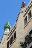 Όμορφη λεπτομέρεια του παλατιού Guell από Gaudiστη Βαρκελώνη, SP Στοκ φωτογραφία με δικαίωμα ελεύθερης χρήσης