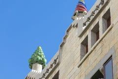 Όμορφη λεπτομέρεια του παλατιού Guell από Gaudiστη Βαρκελώνη, SP Στοκ Φωτογραφία