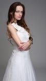 όμορφη λευκή γυναίκα φορεμάτων Στοκ εικόνα με δικαίωμα ελεύθερης χρήσης