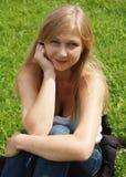 όμορφη ευτυχής γυναίκα Στοκ φωτογραφία με δικαίωμα ελεύθερης χρήσης