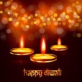 Όμορφη ευχετήρια κάρτα για την ινδή κοινοτική φεστιβάλ απεικόνιση υποβάθρου φεστιβάλ diwali Diwali ευτυχή Στοκ φωτογραφία με δικαίωμα ελεύθερης χρήσης