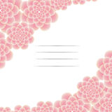 Όμορφη ευχετήρια κάρτα με τα λουλούδια στις πλευρές Στοκ Εικόνες