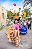 Όμορφη ημέρα γυναικείου εορτασμού της Virgin του Guadalupe Oaxac Στοκ Φωτογραφίες