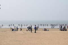 Όμορφη ημέρα στην παραλία Juhu στοκ φωτογραφία με δικαίωμα ελεύθερης χρήσης
