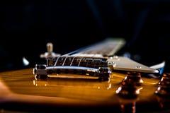 Όμορφη ηλεκτρική κιθάρα ύφους Les Paul Στοκ Εικόνα