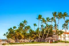 Όμορφη ηλιόλουστη ημέρα σε Punta Cana Στοκ εικόνες με δικαίωμα ελεύθερης χρήσης