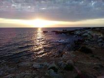Παραλία ηλιοβασιλέματος στοκ φωτογραφία με δικαίωμα ελεύθερης χρήσης