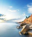 όμορφη θάλασσα τοπίων Στοκ Εικόνες