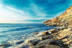 όμορφη θάλασσα τοπίων Σύνθεση της φύσης Στοκ Φωτογραφία
