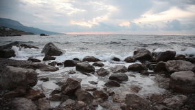 όμορφη θάλασσα τοπίων απόθεμα βίντεο