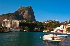 Όμορφη θέα του φυσικού τοπίου Ρίο ντε Τζανέιρο Στοκ Εικόνα