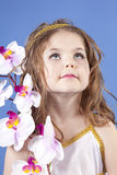 όμορφη θεά κοριτσιών φορε&mu Στοκ Φωτογραφίες