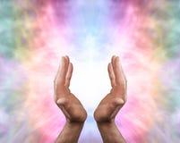 Όμορφη θεραπεύοντας ενέργεια αγγέλου Στοκ εικόνες με δικαίωμα ελεύθερης χρήσης