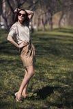 όμορφη θερινή γυναίκα φορεμάτων υπαίθρια Στοκ φωτογραφίες με δικαίωμα ελεύθερης χρήσης
