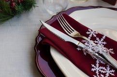 Όμορφη διακόσμηση για το εορταστικό γεύμα Στοκ Εικόνες