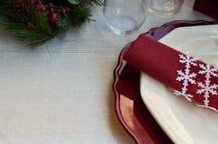 Όμορφη διακόσμηση για το εορταστικό γεύμα Στοκ εικόνα με δικαίωμα ελεύθερης χρήσης