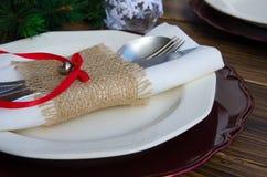 Όμορφη διακόσμηση για το εορταστικό γεύμα Στοκ φωτογραφίες με δικαίωμα ελεύθερης χρήσης
